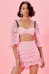 For Love & Lemons Lafayette Crop Top - Pink