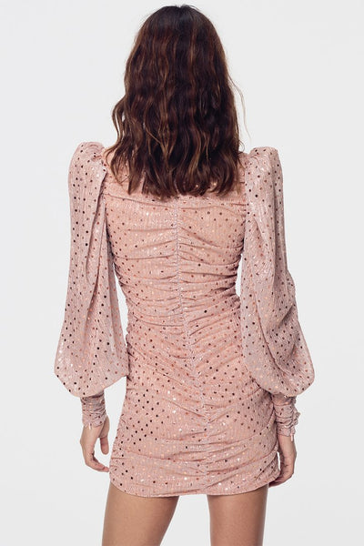 For Love & Lemons La Villette Mini Dress - Champagne
