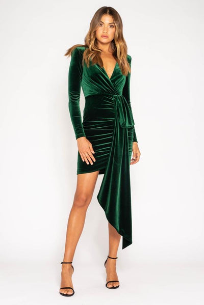 Bianca & Bridgett Arielle Mini Dress - Emerald