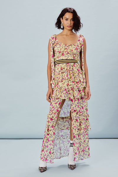 For Love & Lemons Maison Maxi Dress - Yellow