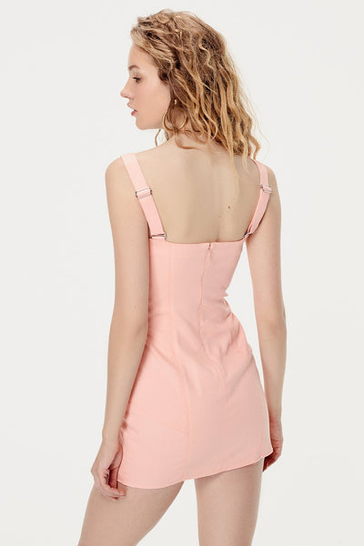 For Love & Lemons Monika Hook Front Mini Dress - Cotton Candy