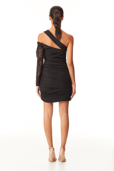 Reign Cartel Mckenszi Ruched Mini Dress - Black