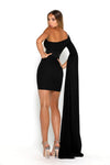 Portia & Scarlett Anna One Shoulder Dress - Black