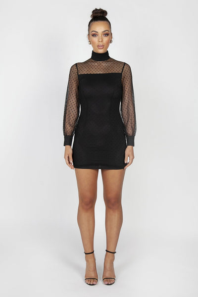 Reign Cartel Sofia Lace Mini Dress - Black