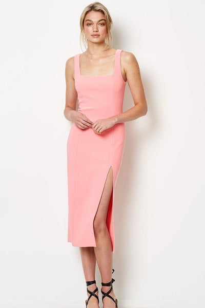Bec & Bridge Hibiscus Islands Midi Dress - Flamingo