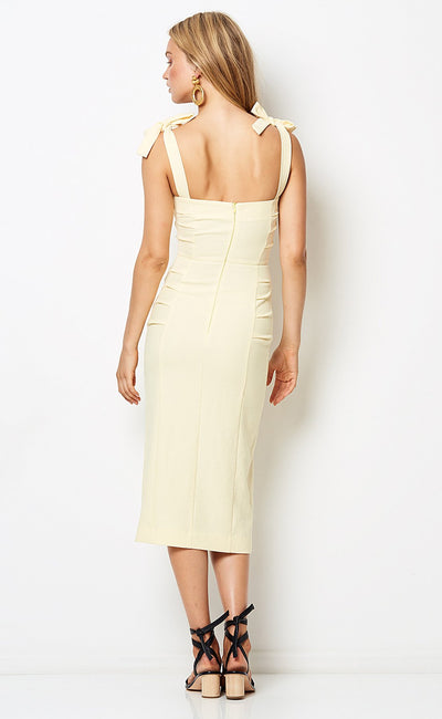 Bec & Bridge Bonita Tie Midi Dress - Butter