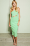 Bec & Bridge Missy Asym Midi Dress - Neon Green