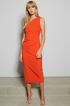 Bec & Bridge Ulla Asym Midi Dress - Blood Orange