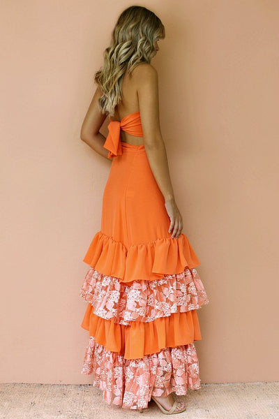 Sisters The Label Senorita Two Piece Gown Set - Starburst Silk