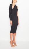 Santina-Nicole Sienna One Shoulder Dress - Black