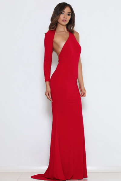 Abyss By Abby 4th Ave Gown - Red
