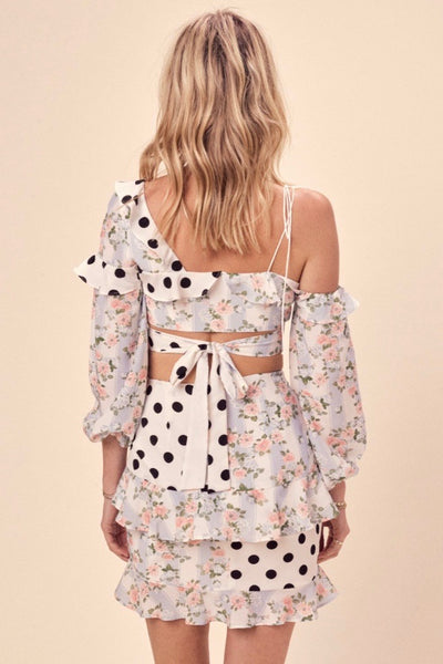 For Love & Lemons St Louis Mini Skirt - Robin Blue