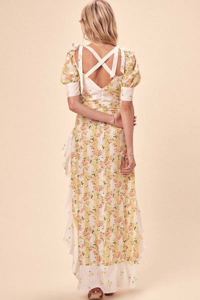 For Love & Lemons Savannah Maxi Dress - Buttercreme