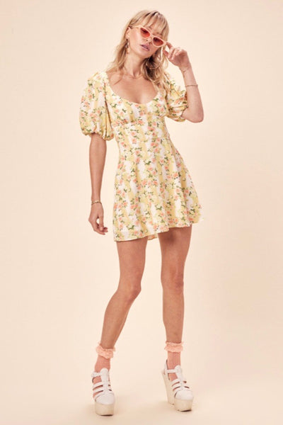 For Love & Lemons Atlanta Mini Dress - Buttercreme