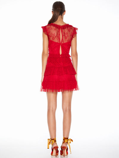 Talulah Tango Dreams Mini Dress - Tango Red