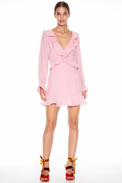 Talulah Orchid Walk Long Sleeve Mini Dress - Orchid