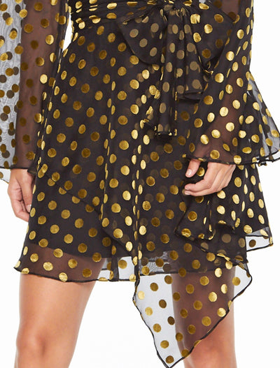 Talulah Budding Long Sleeve Mini Dress - Basil