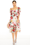 Talulah Garland Midi Dress - Floral