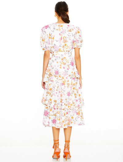 Talulah Jasmine Vines Midi Dress - Jasmine