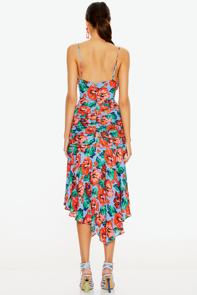 Talulah Luscious Midi Dress - Red Print