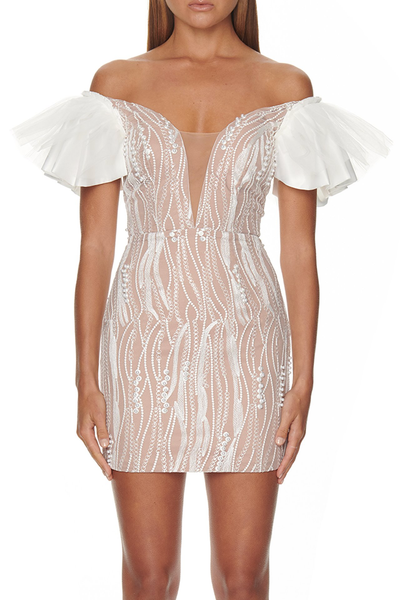 Eliya The Label Trinity Dress - White/Nude
