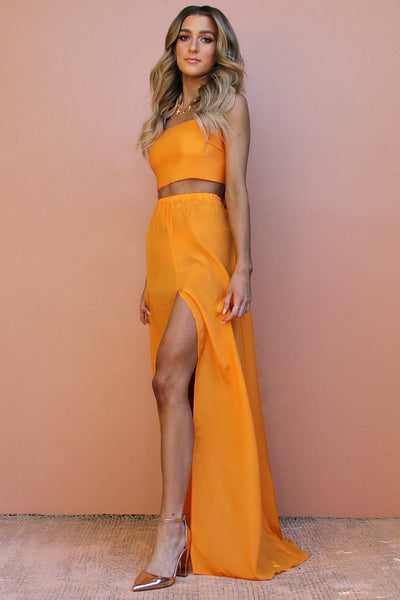 Sisters the Label Wrap Two Piece Gown - Tangerine Dream