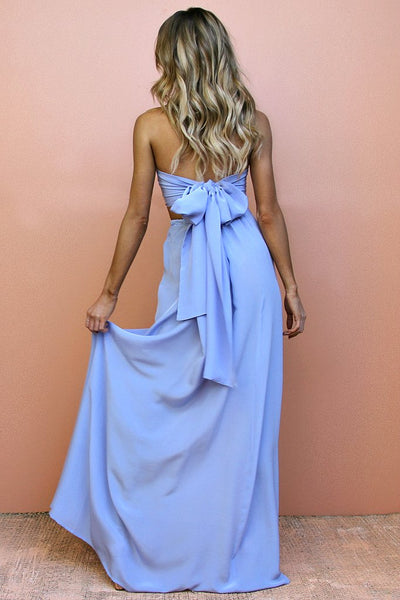 Sisters the Label Wrap Two Piece Gown - Vienna Sky