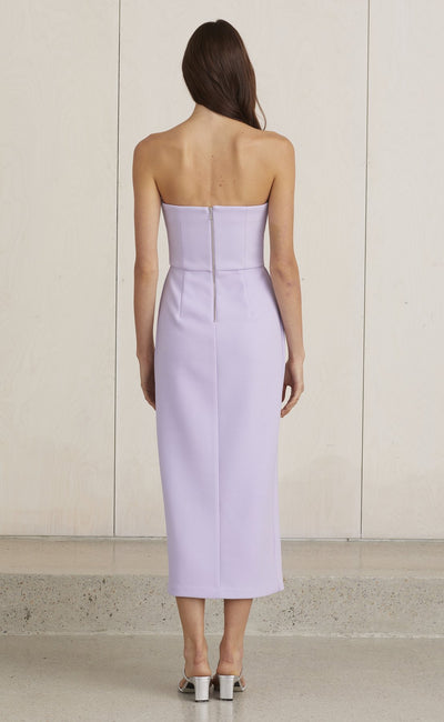 Bec & Bridge Araia Strapless Midi Dress - Lilac