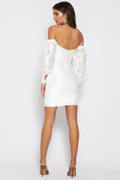 Runaway The Label Natalia Mini Dress - White
