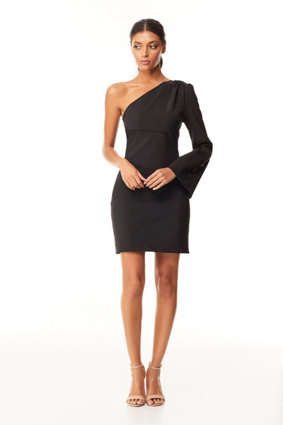Reign Cartel Zeva One Shoulder Mini Dress - Black