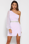 Runaway The Label Alira Mini Dress - Lilac