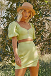 Runaway The Label Yulia Top - Retro Green
