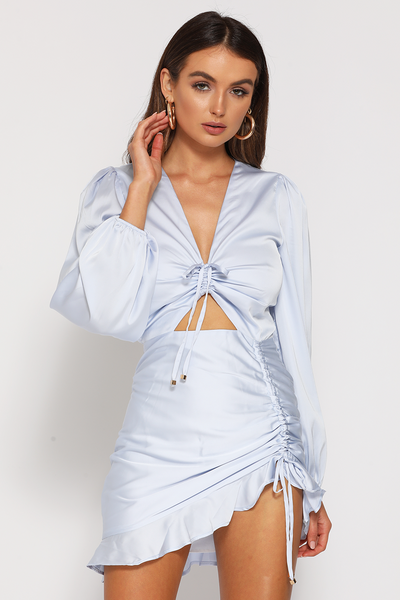 Runaway the Label First Base Dress - Sky Blue
