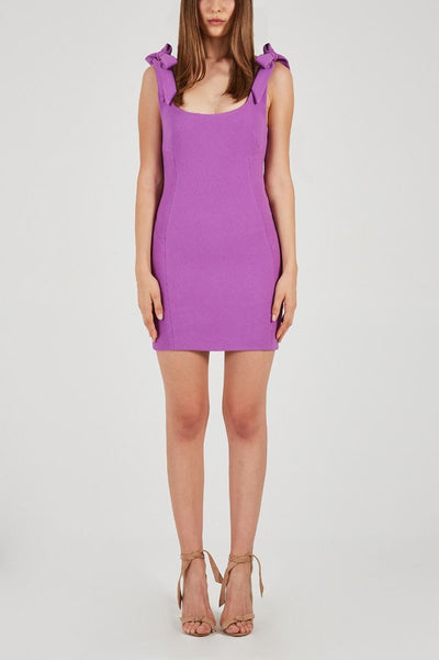 Rebecca Vallance Dahlia Mini Dress - Iris Orchid