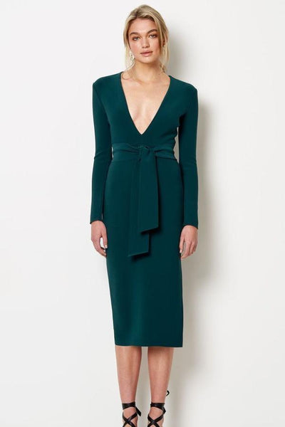Bec & Bridge Tasha Long Sleeve Midi Dress - Emerald
