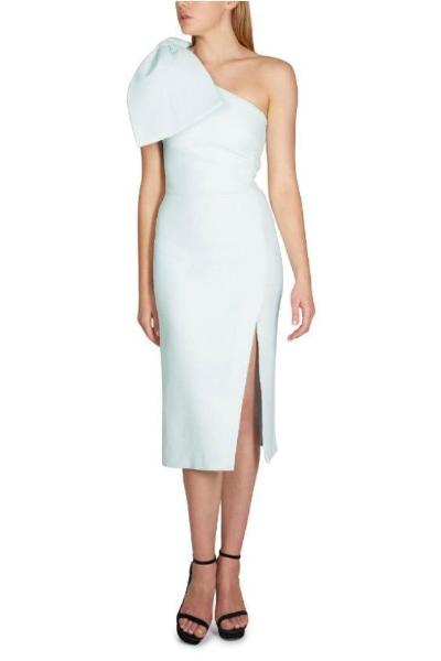 9ad1c937d4db Rebecca Vallance Hamptons Bow Midi Dress - Sky Blue - Dress Hire AU