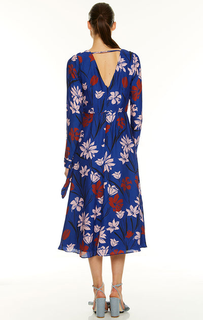 Talulah Fleeting Long Sleeve Midi Dress - Floral