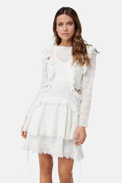 Thurley Ebony Dress - White