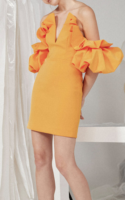 Acler Hitching Deep V Dress - Orange
