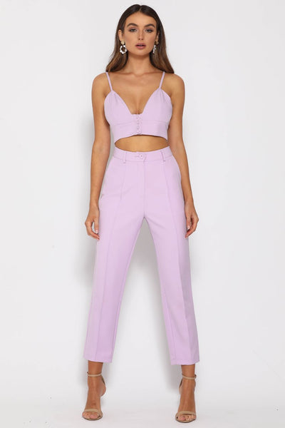 Runaway The Label Need Want Top - Lilac