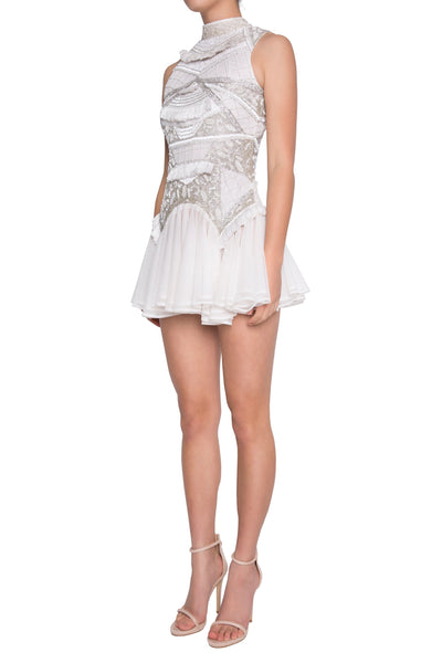 Madame X Stella Dress - White/Silver
