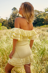Runaway The Label Shirr Me Dress - Lemon