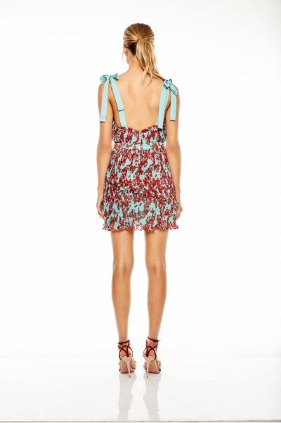 Talulah Superbloom Mini Dress - Red Floral Garden