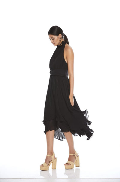 Talulah Mystical Midi Dress - Black