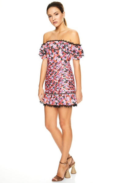 Talulah Kiss Me Mini Dress - Daisy Days Print