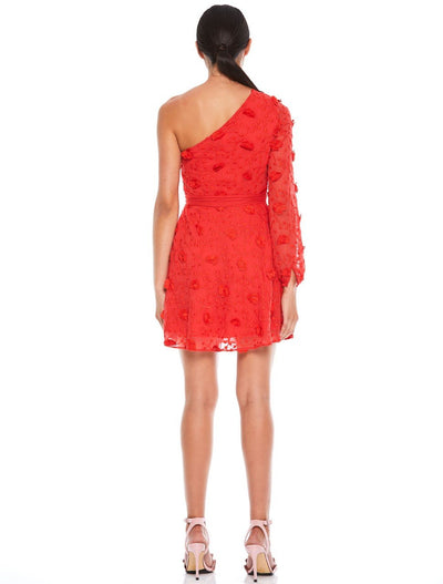 Talulah Scarlett Ruffle Mini Dress - Scarlet