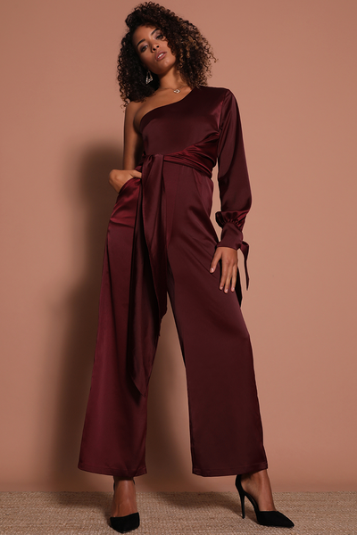 Prem the Label The Great Wave Jumpsuit - Mulberry