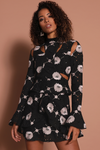 Prem the Label Camellia Dress - Black Floral