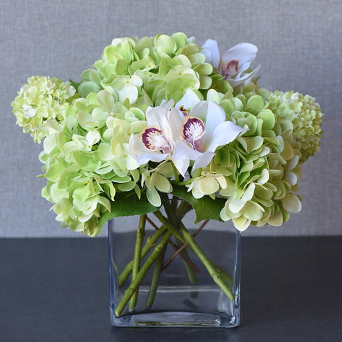 Luxury Artificial Hydrangea & Orchid Arrangement