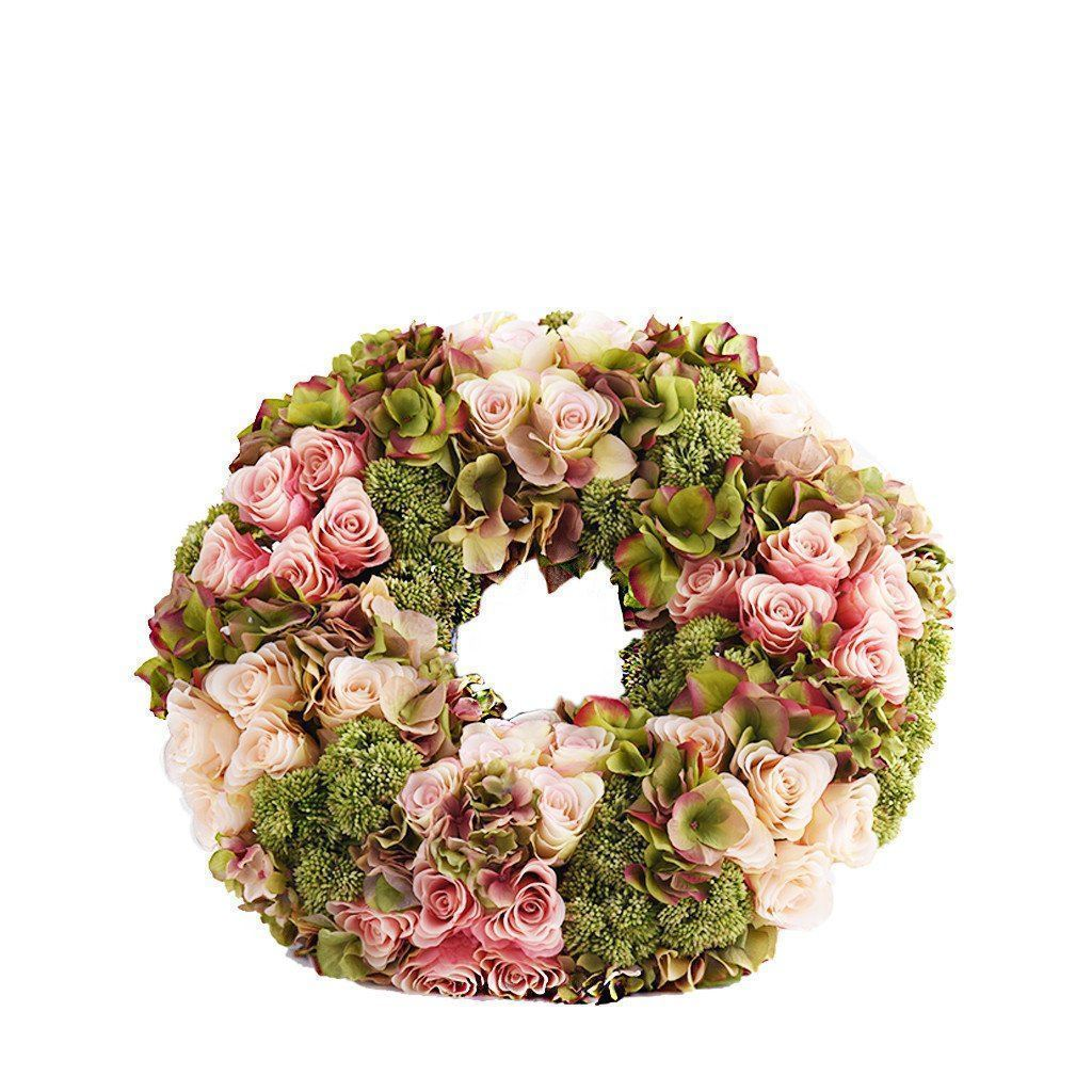 Bloomr Flowers Hydrangea & Rose Wreath artificial flowers artificial trees artificial plants faux florals